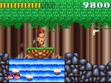 Super Adventure Island SNES If you fall into the water, you are dead