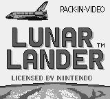 Lunar Lander Game Boy Title screen
