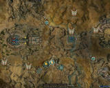 Guild Wars: Nightfall Windows Zoomed map of Vabbi (Normal Mode)