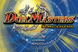 Duel Masters Sempai Legends Game Boy Advance Title screen