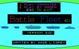 Battle Fleet DOS Title Screen