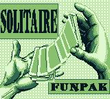 Solitaire FunPak Game Boy Title screen