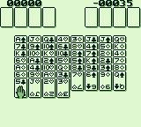 Solitaire FunPak Game Boy Cards layout for Free Cell