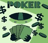 Solitaire FunPak Game Boy Title screen for Poker