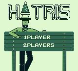 Hatris Game Boy Title screen: 1 or 2 players?