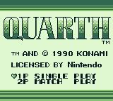 Quarth Game Boy Title screen (US)