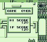 Quarth Game Boy Game over, the blocks reached the bottom!