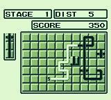 Pipe Dream Game Boy Gameplay: intersections will yield extra points.