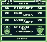 Radar Mission Game Boy Various options to choose from.