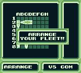 Radar Mission Game Boy Place your ships on the battle grid.