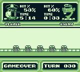 Radar Mission Game Boy After the game statistics are displayed.