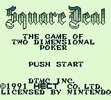 Square Deal Game Boy Title screen
