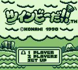 Pop'n TwinBee Game Boy Japanese title screen