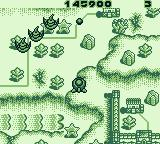 "Pop'n TwinBee Game Boy Level three: the ""river"" in the bottom left functions as a conveyor belt"