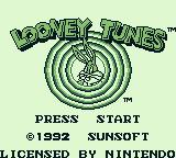 Looney Tunes Game Boy Title screen (US)