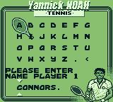 Jimmy Connors Tennis Game Boy Alternate title: Mr. Connors?
