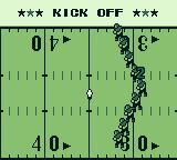 Tecmo Bowl Game Boy The game is about to begin - Kick Off!