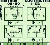 Tecmo Bowl Game Boy Choose your move in the playbook.