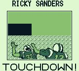 Tecmo Bowl Game Boy Who is Ricky Sanders - oh well ...