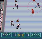 Pro Sport Hockey SNES You can see how much time is left and the score