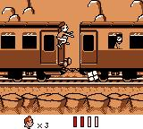 Tintin in Tibet Game Boy First level: get out of the train, beware of boxes!