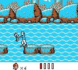Tintin in Tibet Game Boy More swimming, this time Snowy fell into the river.
