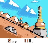 Tintin in Tibet Game Boy Color Running downhill past a stupa.