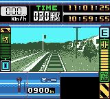 Densha de Go! Game Boy Color Just before leaving a station.