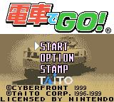 Densha de Go! Game Boy Color Title screen