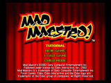 Mad Maestro! PlayStation 2 Titles screen