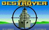 Advanced Destroyer Simulator Atari ST Title screen