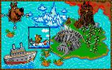 Scooby-Doo and Scrappy-Doo Atari ST A progress map shows up between levels