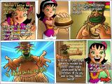 Burger Island Windows One day Patty climbs the mount Tikikola and discovers a tribe of natives cooking bad burgers. She is defied by their leader in making a better burger. As she succeeds, he reveals their old recipes.