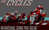 The Cycles: International Grand Prix Racing DOS Title Screen (CGA)