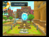 Final Fantasy: Crystal Chronicles - My Life as a King Wii Praying at the shrine of strength.
