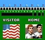 Roger Clemens' MVP Baseball NES Start of the game as the national anthem plays.