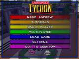 Monopoly Tycoon Windows The Main menu