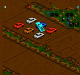 Monster Truck Rally  NES About to crush some cars.