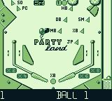 Pinball Fantasies Game Boy Table 1: Partyland - bottom half