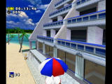 Sonic Adventure DX (Director's Cut) GameCube Sonic at an island resort.