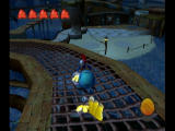Billy Hatcher and the Giant Egg GameCube Rolling an egg down a winding ramp, while feeding it bananas.