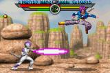 Dragon Ball Z: Taiketsu Game Boy Advance Trunks evading Frieza's attack