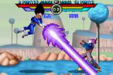 Dragon Ball Z: Taiketsu Game Boy Advance Vegeta using Galick Gun against Trunks