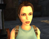 Lara Croft: Tomb Raider - Anniversary Windows Lara in front of a fireplace