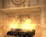 Lara Croft: Tomb Raider - Anniversary Windows A fireplace with a secret