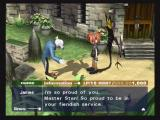 Okage: Shadow King PlayStation 2 Talking to the demon butler, James.
