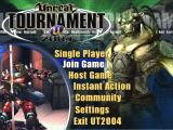 Unreal Tournament 2004 Windows Main menu
