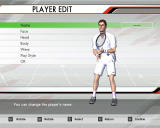Virtua Tennis 3 Windows You can edit player before you start World Tour