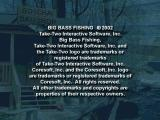 Big Bass Fishing PlayStation Copyright notice