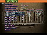 Fisherman's Bait: A Bass Challenge PlayStation Options menu